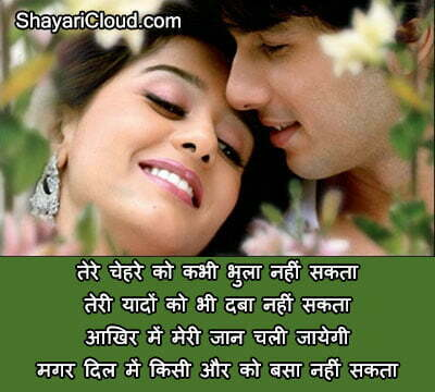 Teri Yaad Shayari in Hindi images