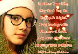 Happy Christmas Greetings in English with Images